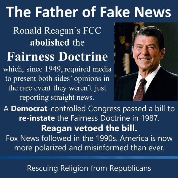 FACT CHECK: Did Ronald Reagan Pave the Way for Fox News By ...