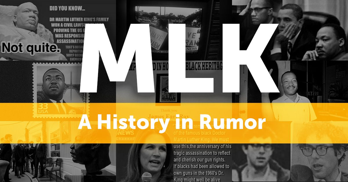 Dr Martin Luther King Jr A History In Rumor
