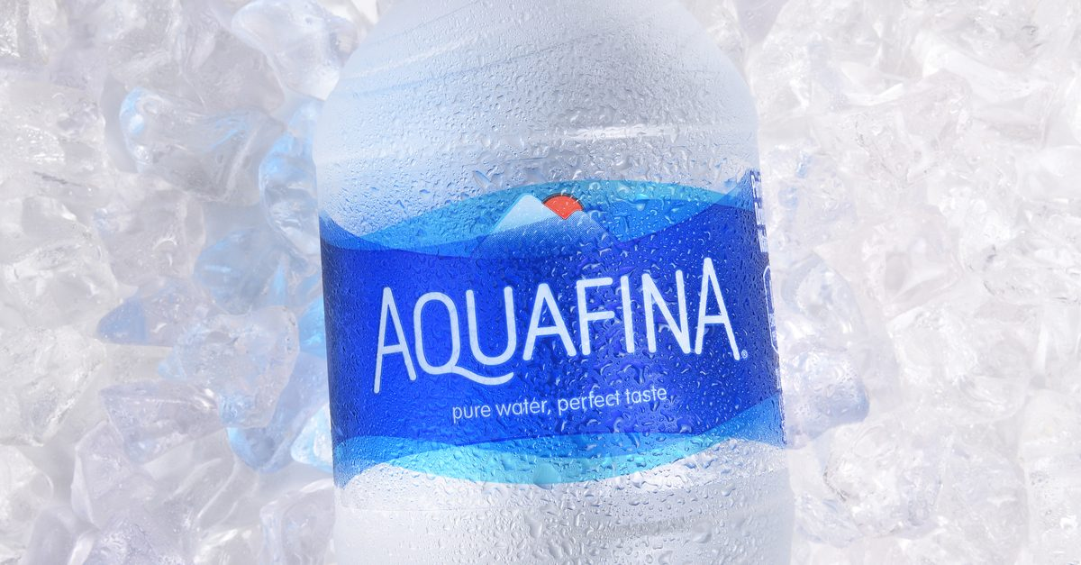 fact check aquafina bottled water does not freeze