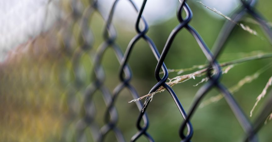 Close image of wire fence