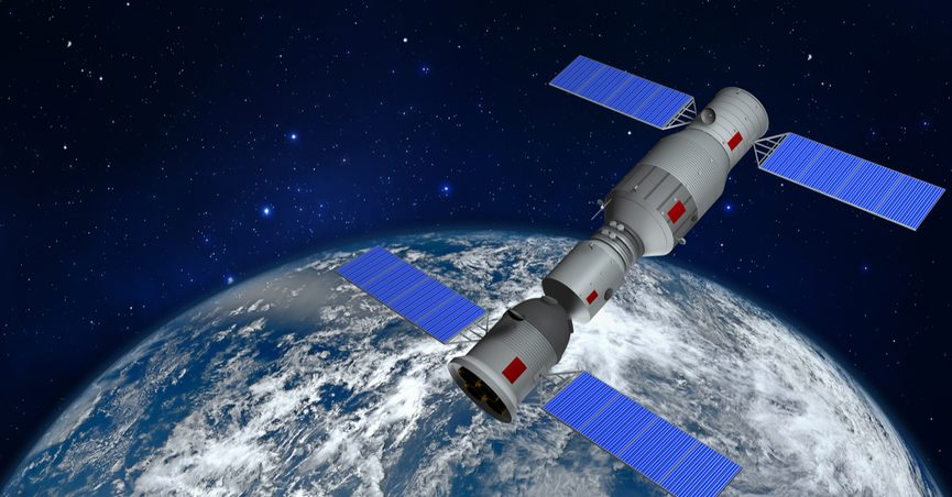 3D Rendering of Chinese space station Tiangong
