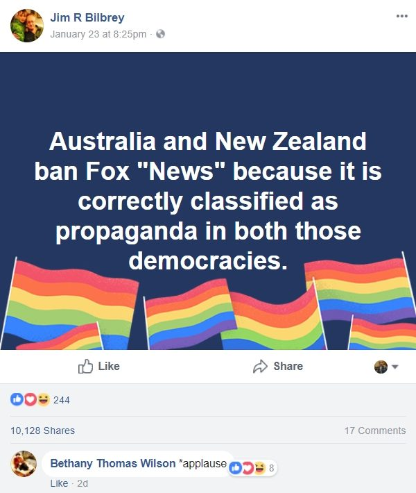 Fox News banned in Australia and New Zealand