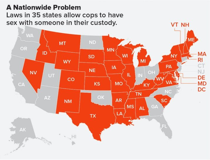 35 states allow cops to rape