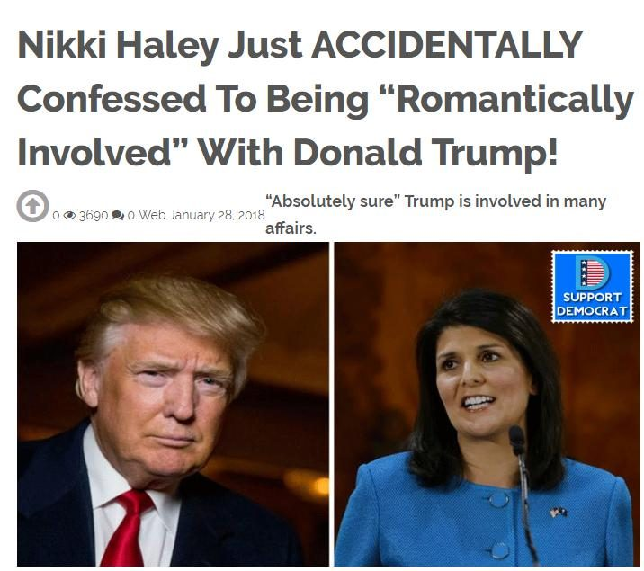 Did Nikki Haley 'Accidentally Confess' to an Affair with
