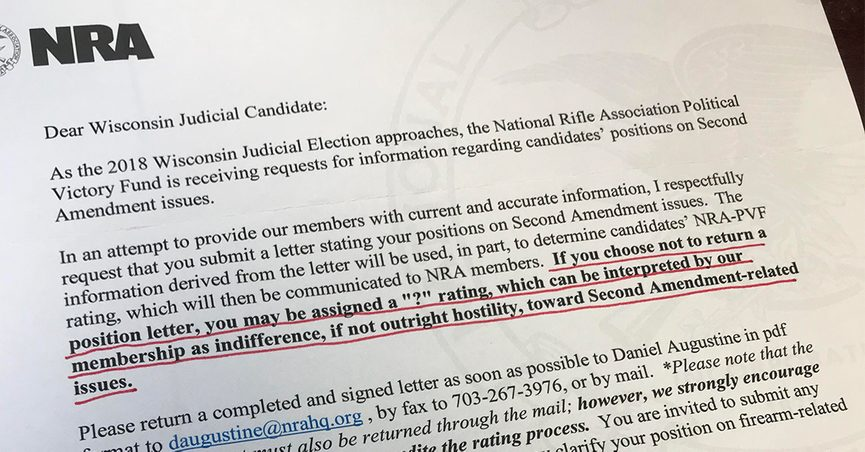 Fact Check Did The Nra Ask Judicial Candidates For Position