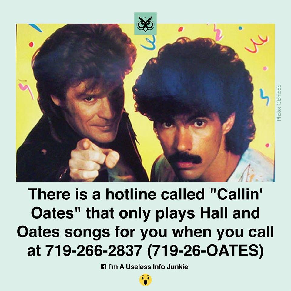Fact Check Is There A Dedicated Hall Oates Phone Line