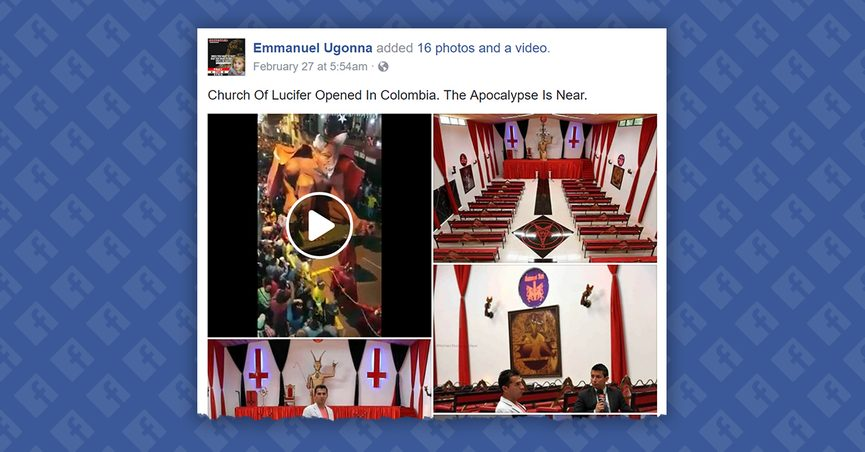 Did a Church of Lucifer Open in Colombia?