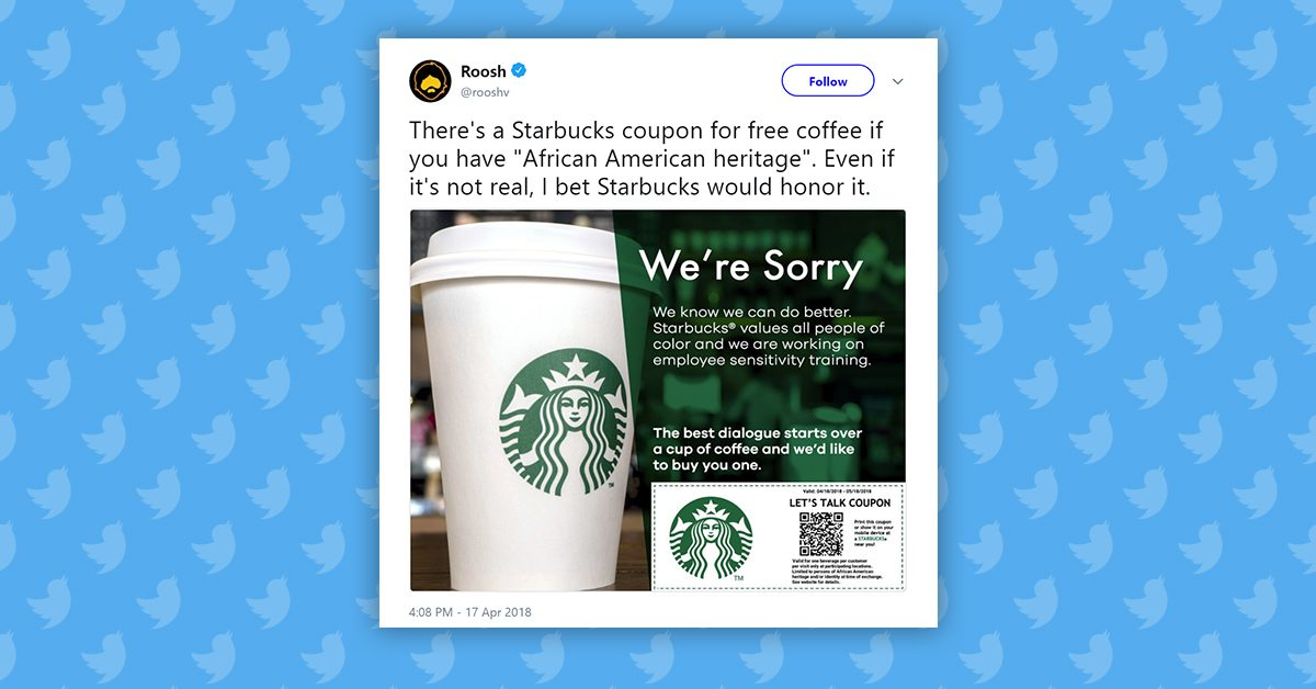 fact check is starbucks offering coupons for black customers only
