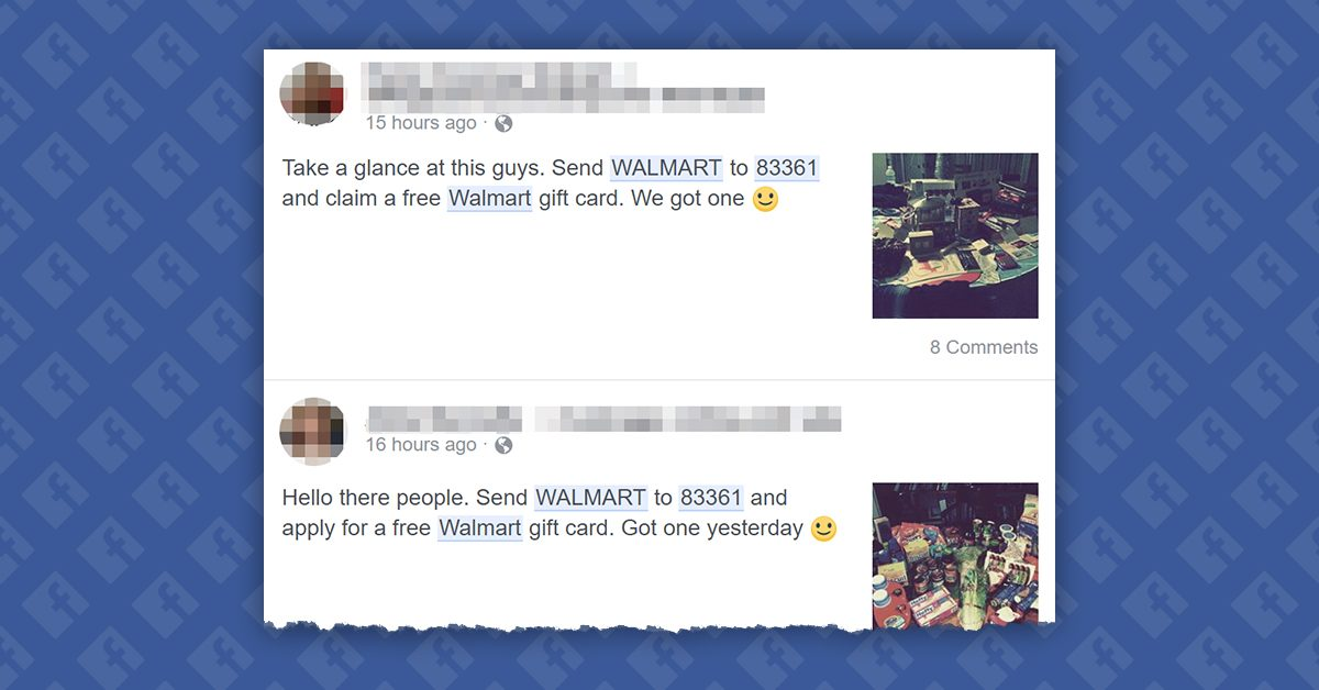 FACT CHECK Text To Receive A Free Walmart Gift Card