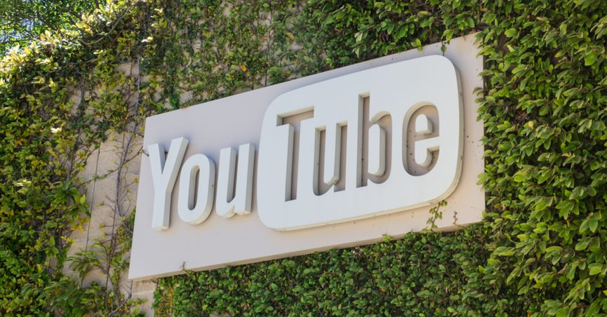 YouTube sign.