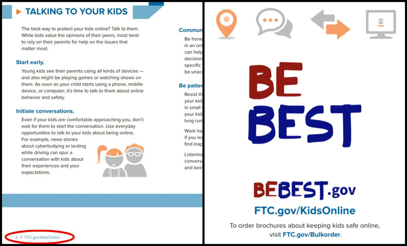 A Link To The FTCs Web Site About Internet Safety And Final Page Lists Sites For Both Be Best Campaign