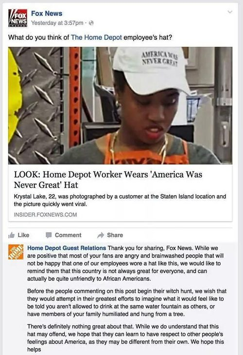 b9b5f80e07c That reply wasn t a real response from a Home Depot customer rep