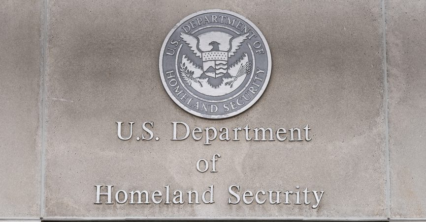 Department of Homeland Security edifice.