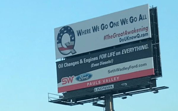 Billboards Promoting 4Chan Conspiracy Theory 'QAnon' Pop Up Across America