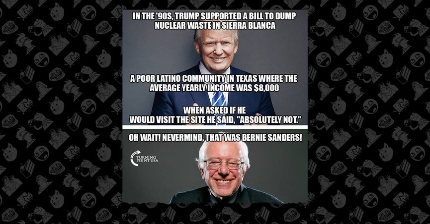 Did Bernie Sanders Support Dumping Nuclear Waste in a 'Poor Latino