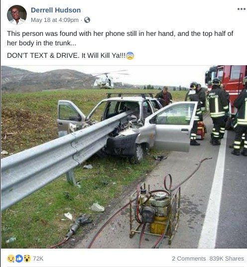Was a Texting Driver Found Still Clutching a Phone After a