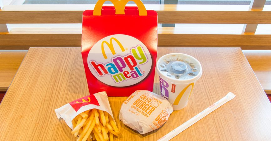 McDonald's Happy Meal on a table.