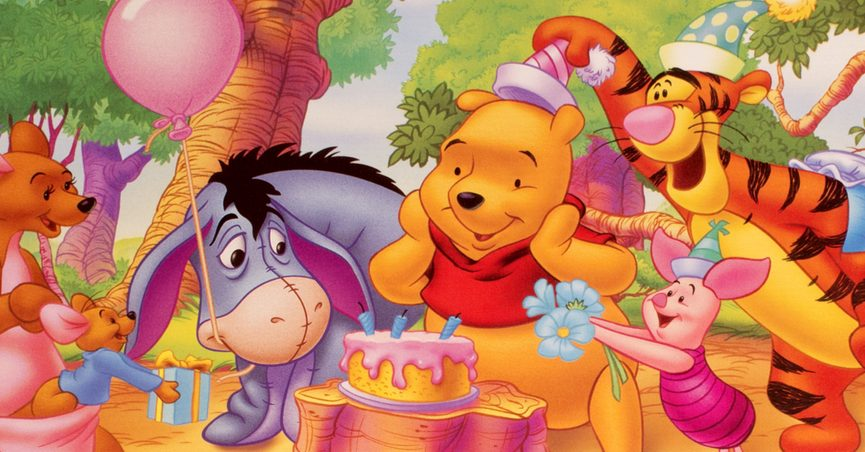 Winnie the Pooh with his friends.