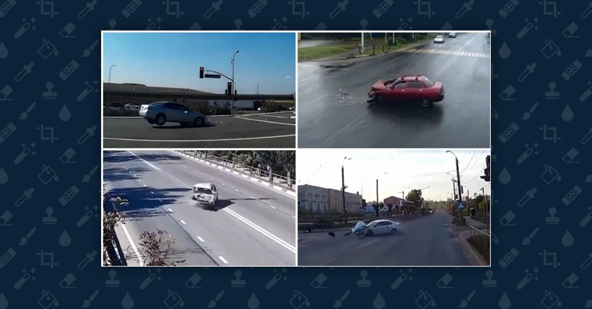 Does This Video Show 8 Supernatural Car Crashes?