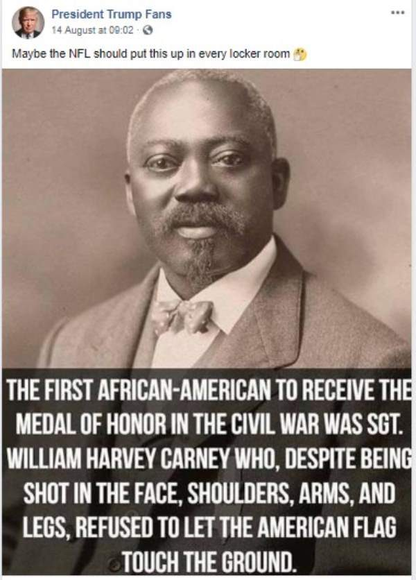 dfef0f258f4 FACT CHECK  Was William Harvey Carney the First Black Medal of Honor ...