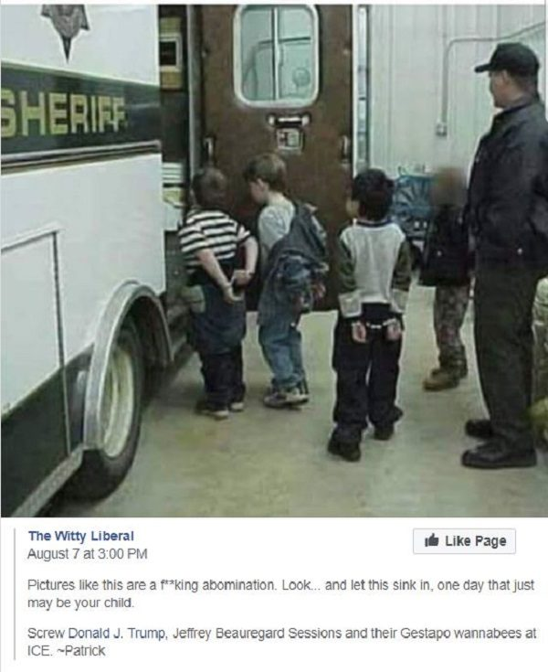 Handcuffing Little Kids May Not Be >> Does This Photograph Show Ice Arresting Small Children