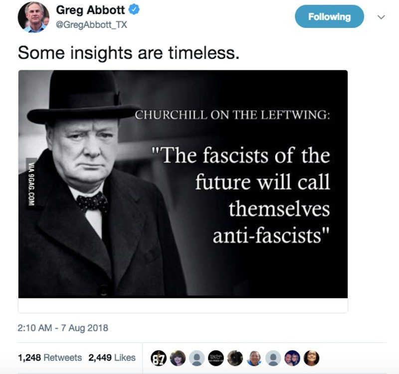 Did Winston Churchill Say The Fascists Of The Future Will