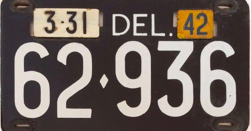 Low-Number Delaware License Plate Auctioned for $410K