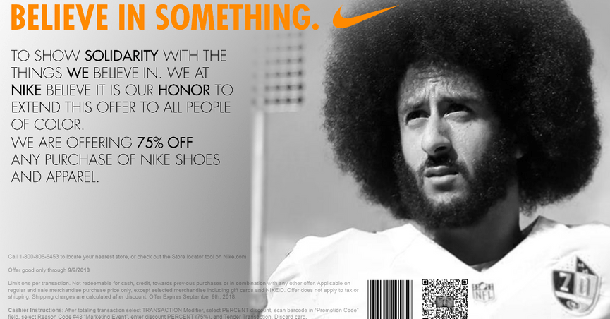 864f2e8f73e7 FACT CHECK  Did Nike Offer  People of Color  a 75 Percent Off Coupon
