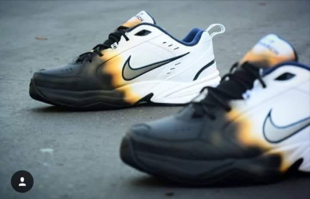 48aee1bbb8 FACT CHECK: Did Nike Release a Line of 'Burned' Sneakers to Clap Back at  Protesters?