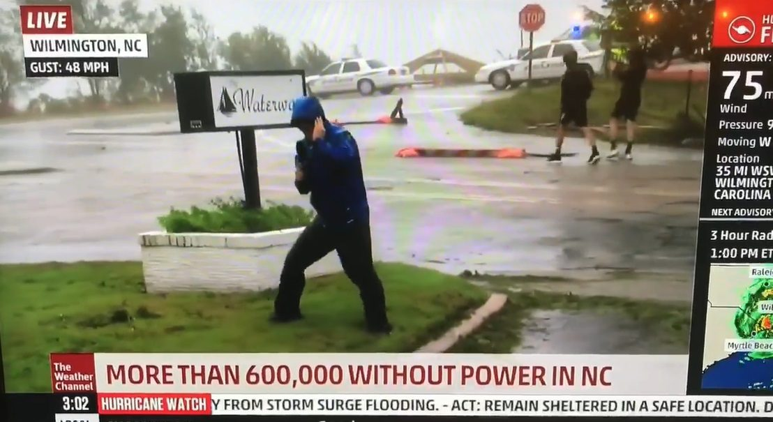 Weather Channel Reporter Braces in Storm That Leaves Others