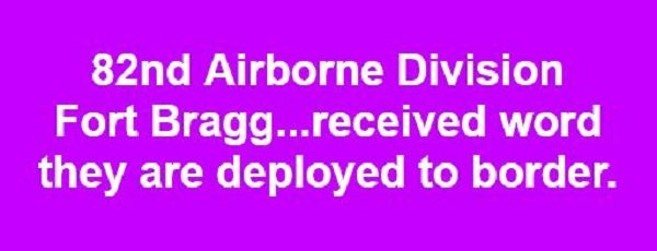 Did the 82nd Airborne Division Receive Word They Are Being Deployed