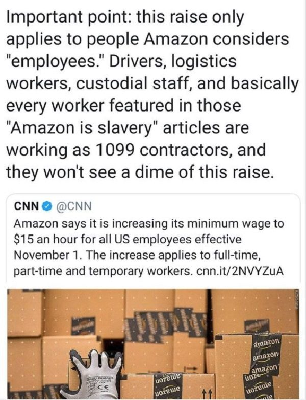 Will Many Amazon Workers Not Receive Minimum Wage Increases?