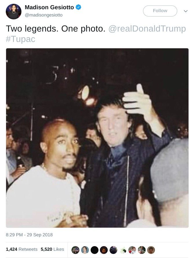 Is This a Photograph of Donald Trump with Tupac Shakur?