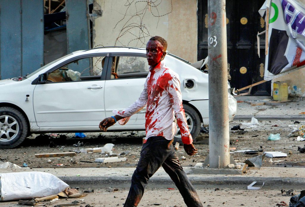 4 Car Bombs Explode by Hotel in Somalia's Capital; 20 Dead