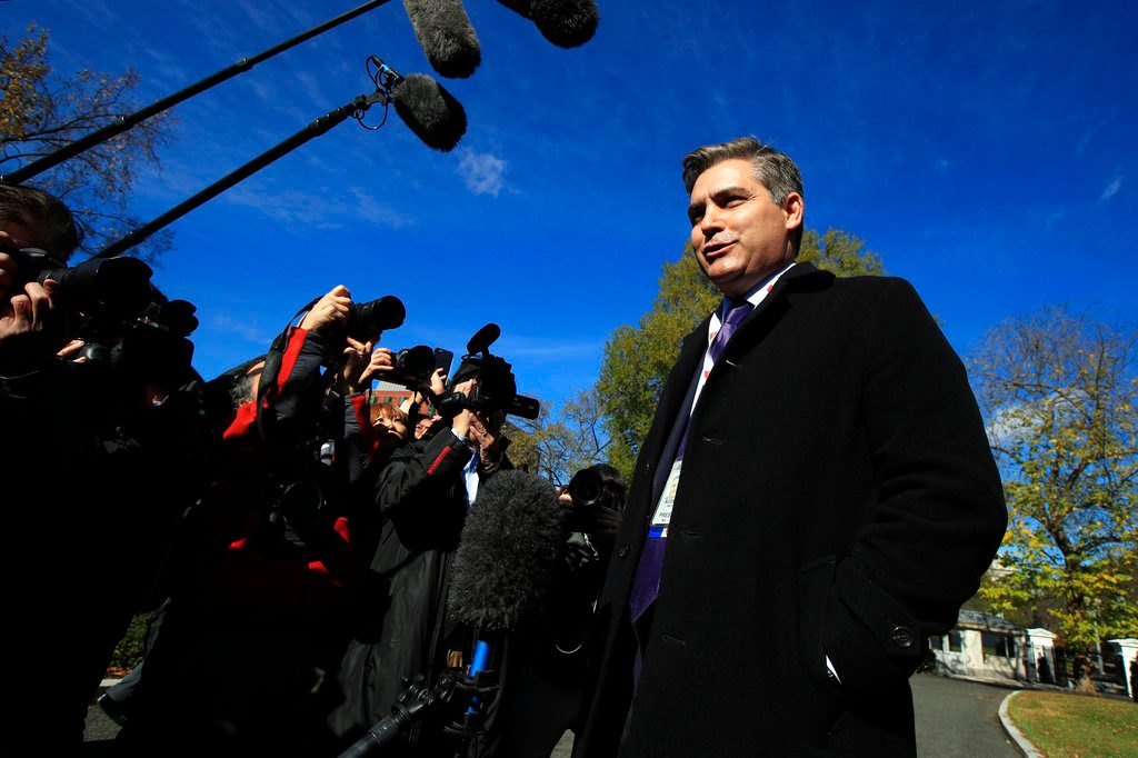 White House begins process to pull CNN's Jim Acosta's press pass again