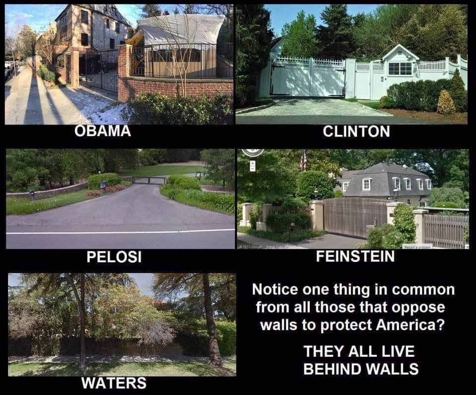 Fact Check Did These Politicians Build Walls Around Their Homes