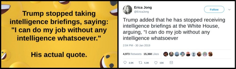 Did President Trump Say I Can Do My Job Without Any Intelligence