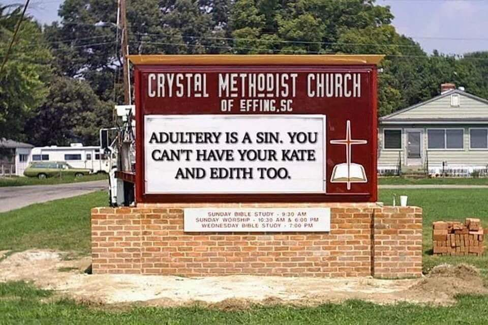 Fact Check Is This Crystal Methodist Church Sign In Effing Sc Real
