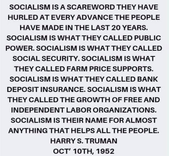 Did Harry Truman Denounce the Use of 'Socialism' as a 'Scare