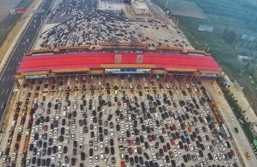 Does This Image Show a Traffic Jam on China's 50-Lane Highway?