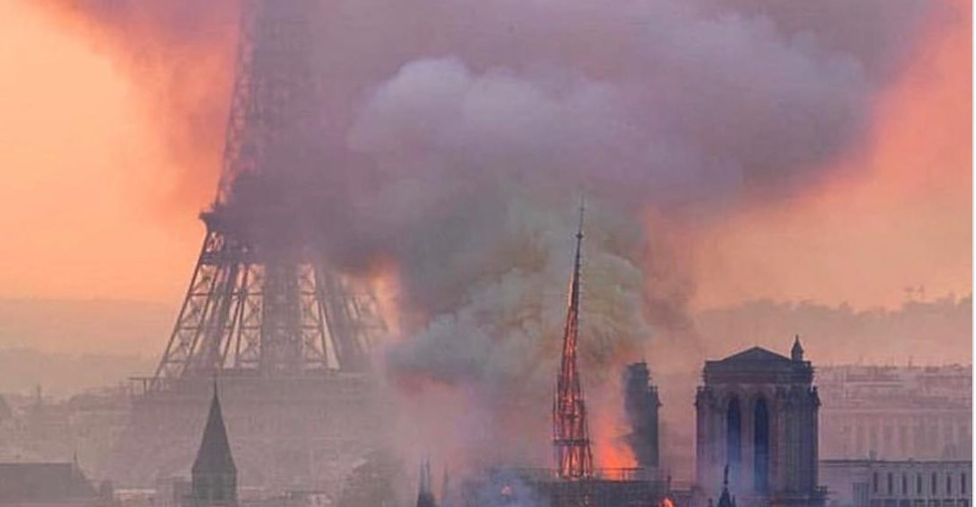 FACT CHECK: Is This Photograph of Notre Dame Burning with the Eiffel Tower Directly in the Background Real?
