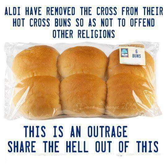 Did ALDI Remove the Cross from Their Hot Cross Buns to Appease Other