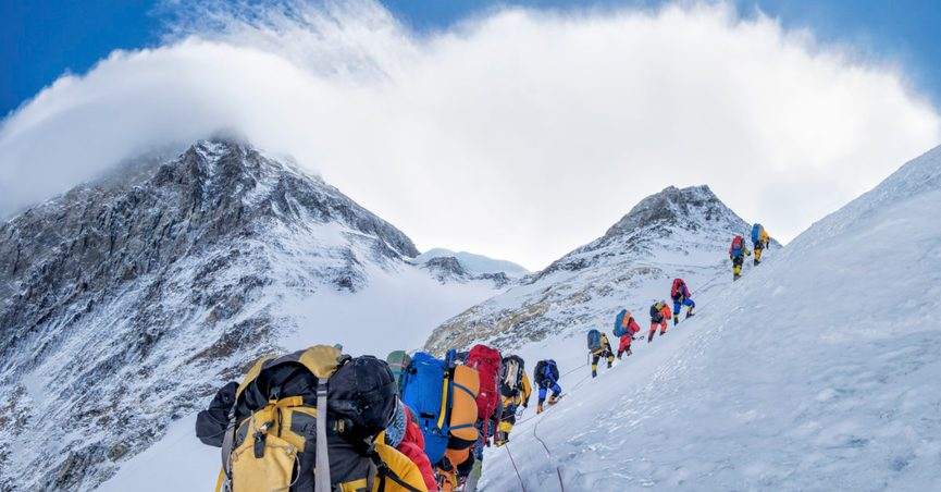 Does Mount Everest Have a Human 'Traffic Jam'?