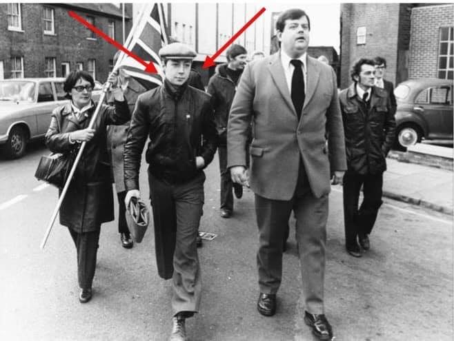 Does a Photo Show Nigel Farage with National Front Leader Martin Webster in the '70s?