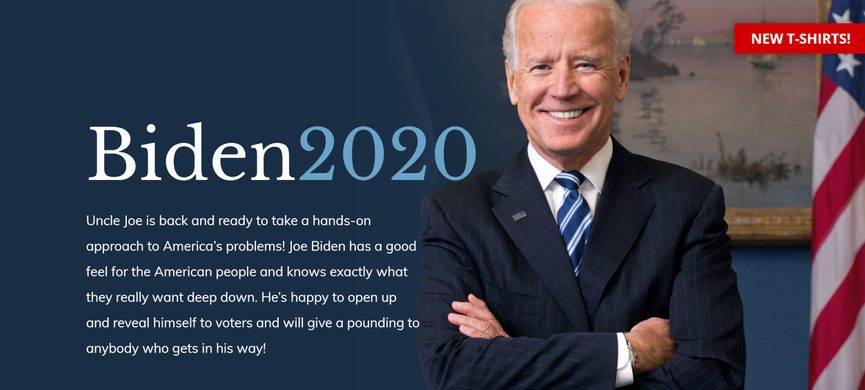 """Uncle Joe Biden /""""I Don/'t Work For you VELCRO® BRAND FASTENER PATCH"""