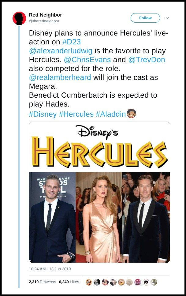 Is Disney Making A Live Action Hercules