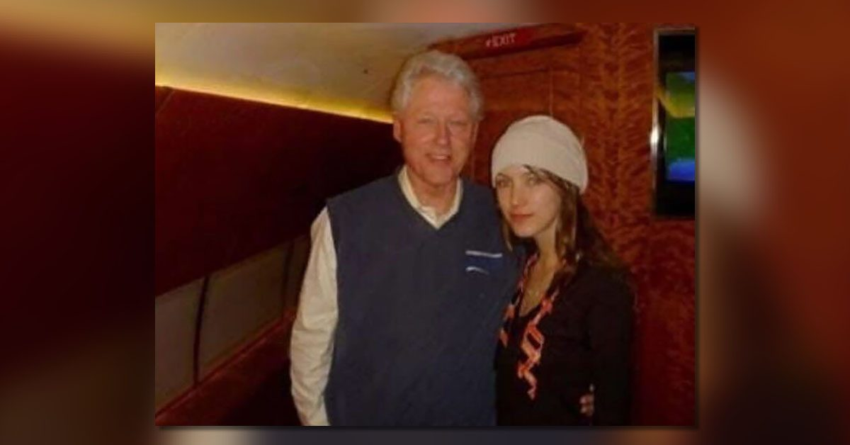 Is This Rachel Chandler and President Bill Clinton on Jeffrey Epstein's Plane?