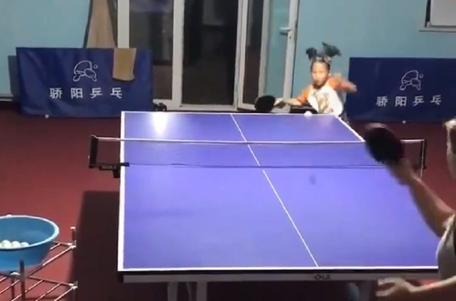 Is This Video of a Talented Young Girl Playing Ping-Pong Real?