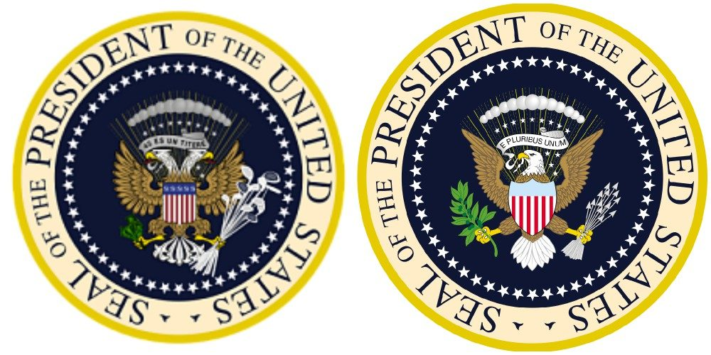 Image result for presidential seal altered
