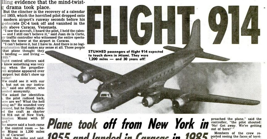 Did a Plane Disappear and Land 37 Years Later?